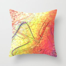 goodbye morning freestyle Throw Pillow