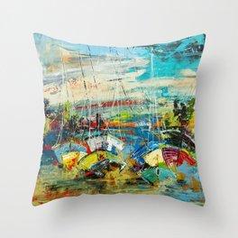 Sail 1 Throw Pillow