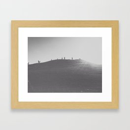 That Seattle Hill. Framed Art Print