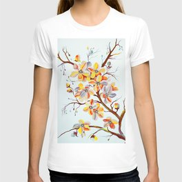 Japanese Cherry Tree Flowers, cherry blossom branch T-shirt