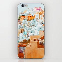 Santorini Vacay #photography #greece #travel iPhone Skin