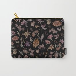 Botanical Study- Dark Colorway Carry-All Pouch