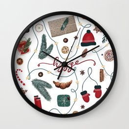 Hygge Christmas Collection Wall Clock