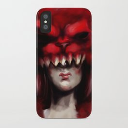 Slay the Red Beast iPhone Case