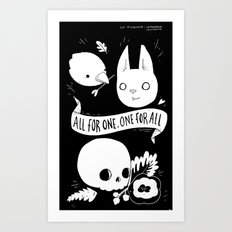 All for One, One for All Art Print