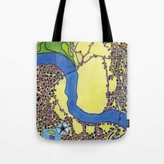 Tiny Underdog City Map Tote Bag