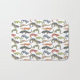 Salamander Pattern Bath Mat