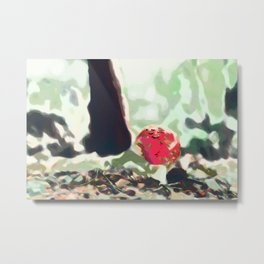 Amanita Muscaria Painting 2 Metal Print