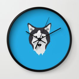 Lance Bright Blue Wall Clock