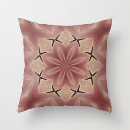 Star Magnolia Medallion 8 Throw Pillow