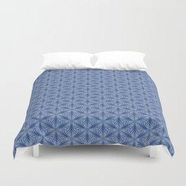Original Handmade Pattern - Blue Tropical Leaves Duvet Cover