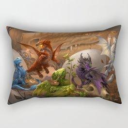Baby Dragons Rectangular Pillow