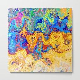 Colorful Cells Design Metal Print