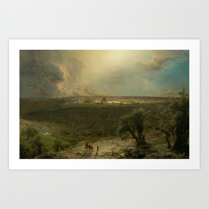 Jerusalem from the Mount of Olives by Frederic Edwin Church Kunstdrucke