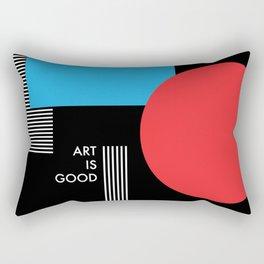 Art is good, abstract modern minimal Rectangular Pillow