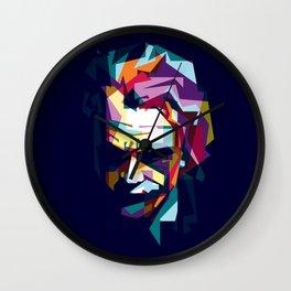 joker in colorful popart style Wall Clock