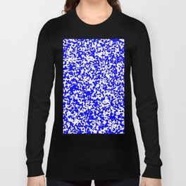 Small Spots - White and Blue Long Sleeve T-shirt