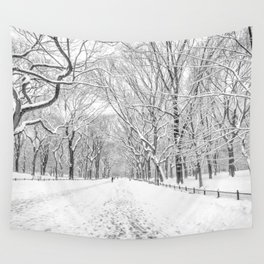 New York City Snow Wall Tapestry