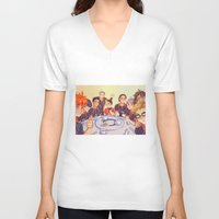 haikyuu V-neck T-shirts featuring Post Practice Lunch by AndytheLemon