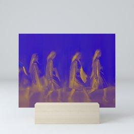 Walking women Mini Art Print