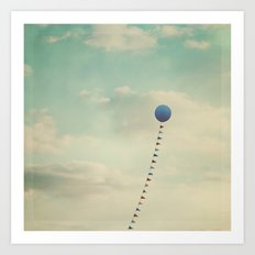 Blue Balloon  Art Print