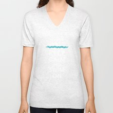 Keep Calm and Swim On (For the Love of Swimming) Unisex V-Neck