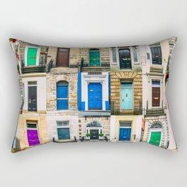 Colorful doors Rectangular Pillow