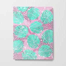 Funny Monstera Metal Print