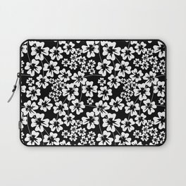 Floral black and white pattern Laptop Sleeve