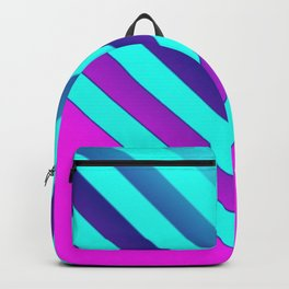 Pink & Aqua Chevron Backpack