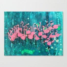 :: Flamingos Among Us :: Canvas Print