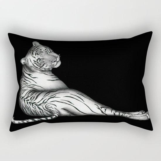The Hunter in Black Rectangular Pillow