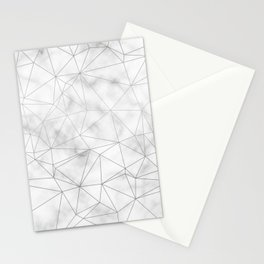 Marble Silver Geometric Texture Stationery Cards