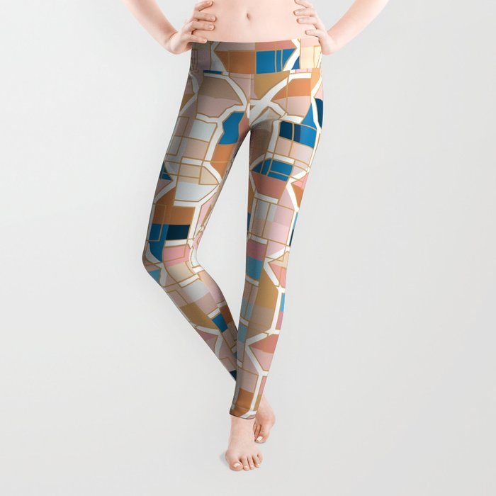Mediterranean Geometric Shapes I. Leggings
