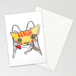 """""""Oro"""" Valentines Cupid Stationery Cards"""