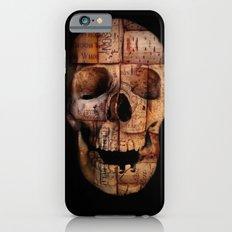 wine cork skull Slim Case iPhone 6