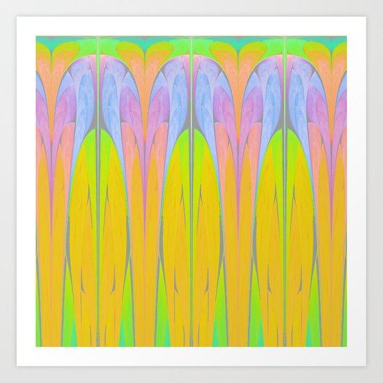 Art Deco III (Variation II) Art Print