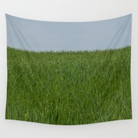 grass Wall Tapestries featuring Grass by Josh Lohmeyer