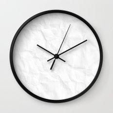 Crumpled Paper Wall Clock