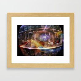 astronauts gotta drink too Framed Art Print