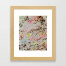 Florescent Fireballs Framed Art Print