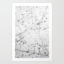 Speckle Marble Print Art Print