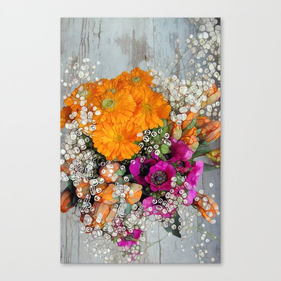 Funky Floral Canvas Print