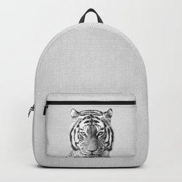 Tiger - Black & White Backpack