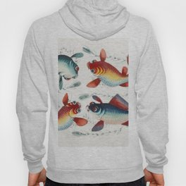 Chinese painting featuring two gold and two silver fish (ca1800-1899) from the Miriam and Ira D Wall Hoody