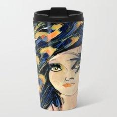 Peacock Girl Variation 1 Metal Travel Mug