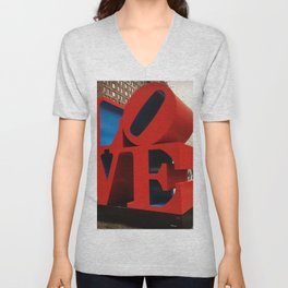 Love Sculpture - NYC Unisex V-Neck