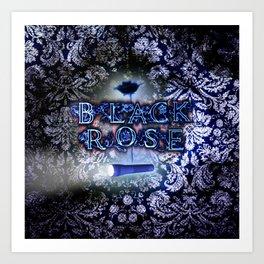 """Black Rose"" Game Title Art Print"