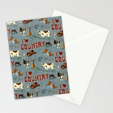 I Love Country Stationery Cards