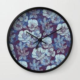 Veda Floral Wall Clock